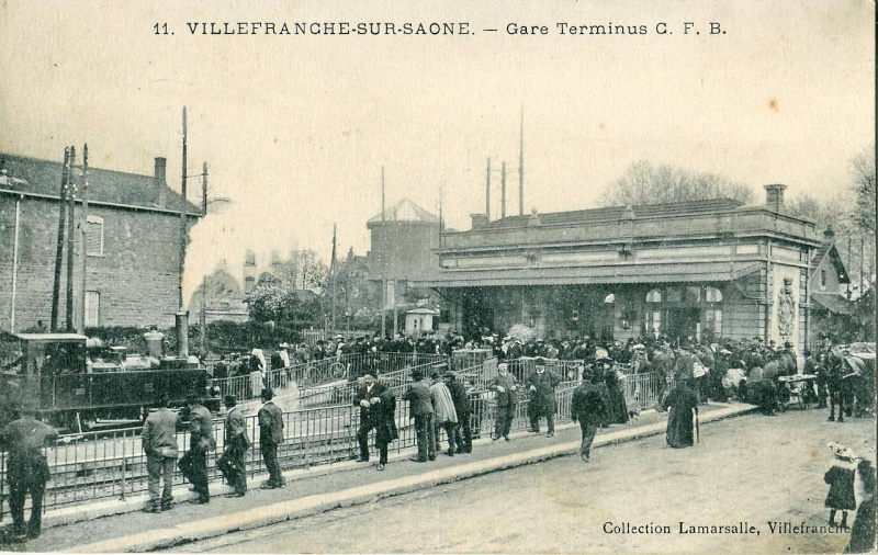 Terminus de la gare de Villefranche-sur-Saône