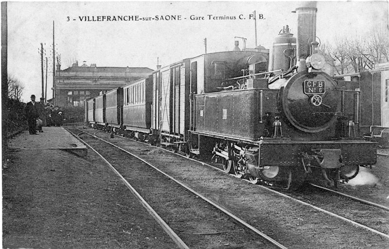 locomotive e gare de Villefranche CFB